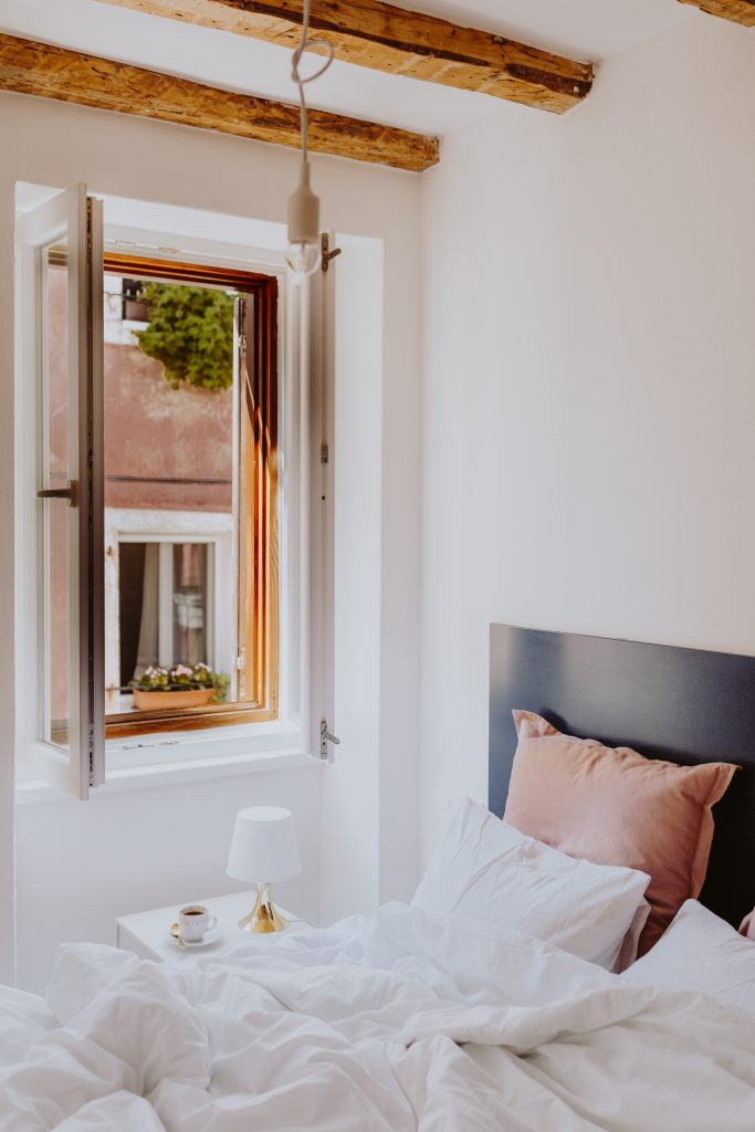 Simple bedroom design in a rented property