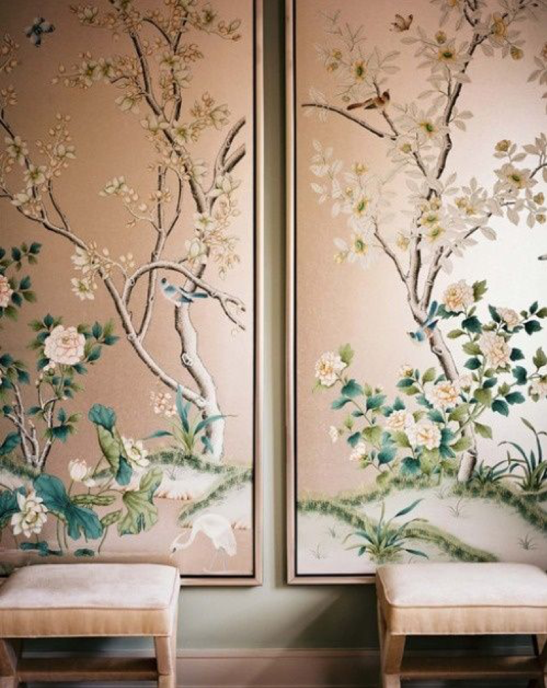 Wallpaper or fabric panelling