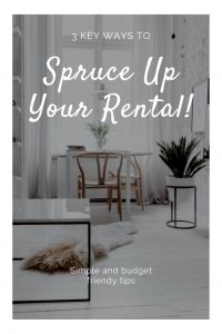 3 ways to spruce up your rental