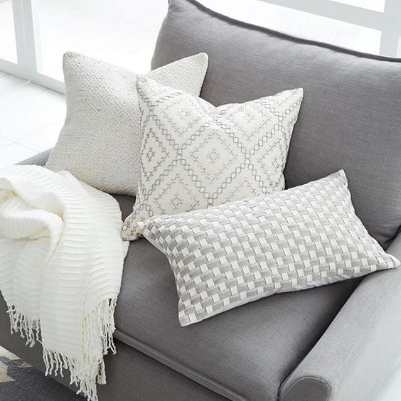 Scatter cushions on an armchair