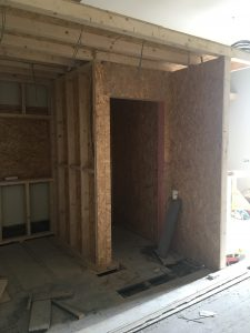 New interior partitions