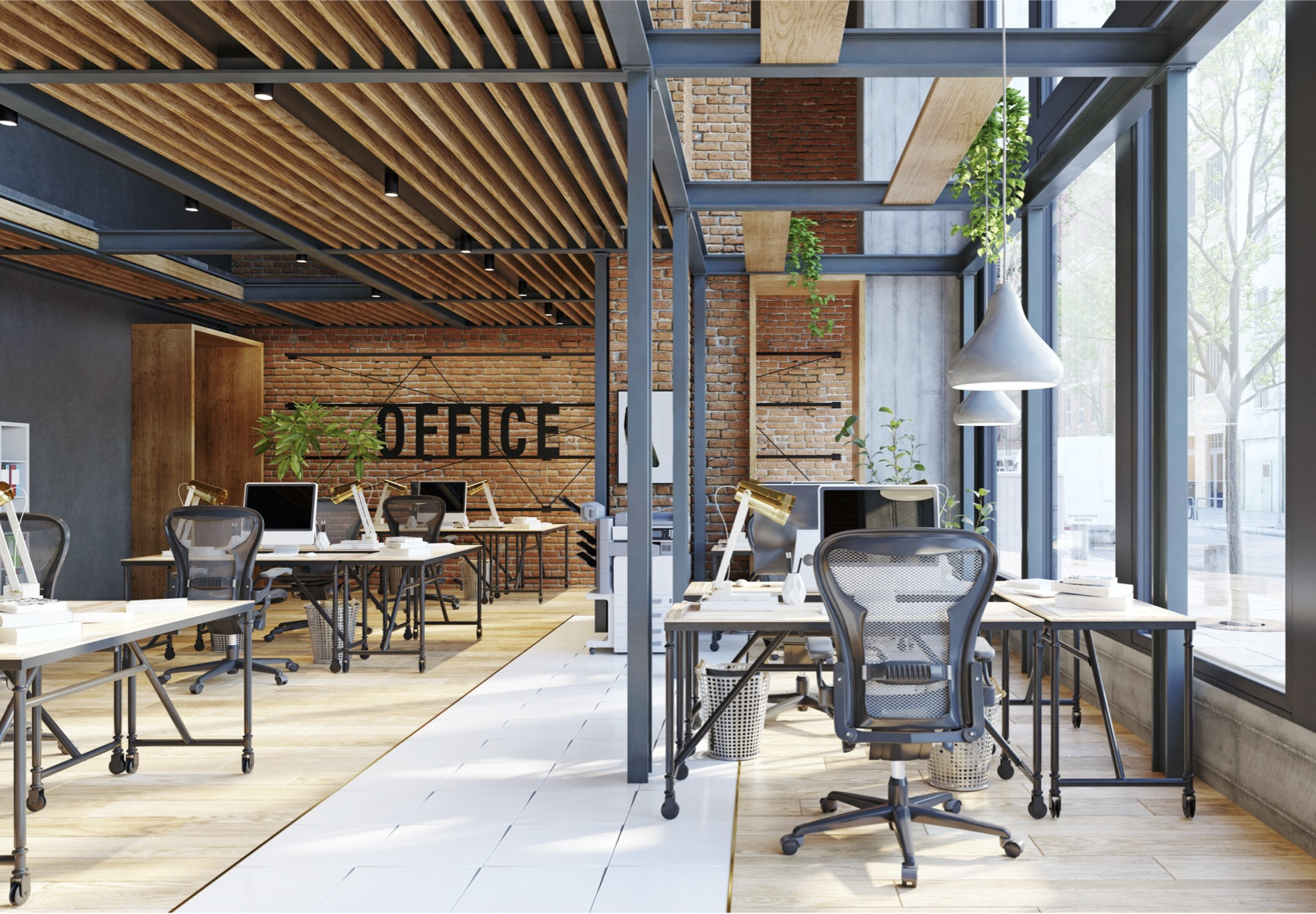 commercial interior design, workspace, office interior design